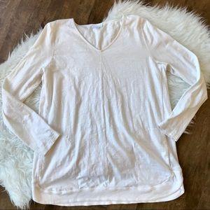 Jjill cream ivory tall tunic long sleeve pockets